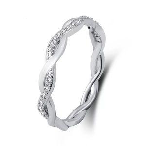 925 Sterling Silver Twist Minimalist Ring